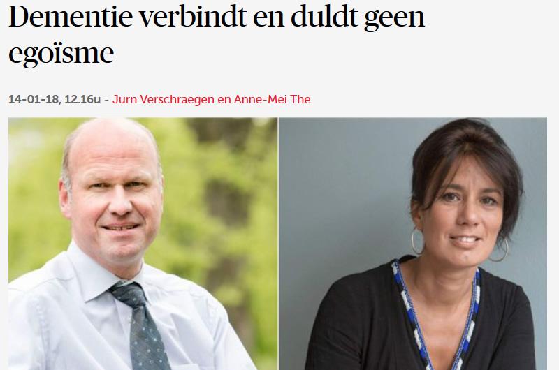 Dementie verbindt - opinie Jurn Verschraegen 14012018 DeMorgen