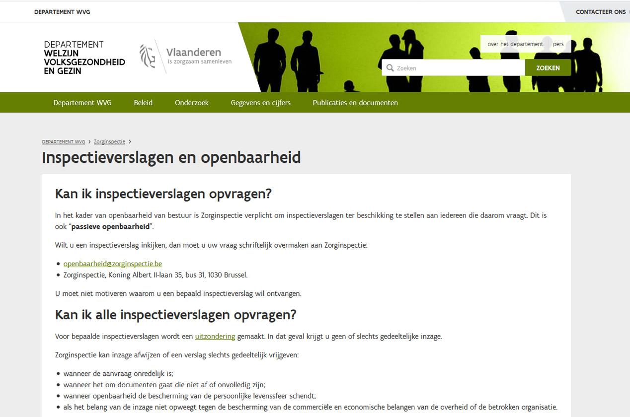 zorginspectie-openbaarheid-verslagen
