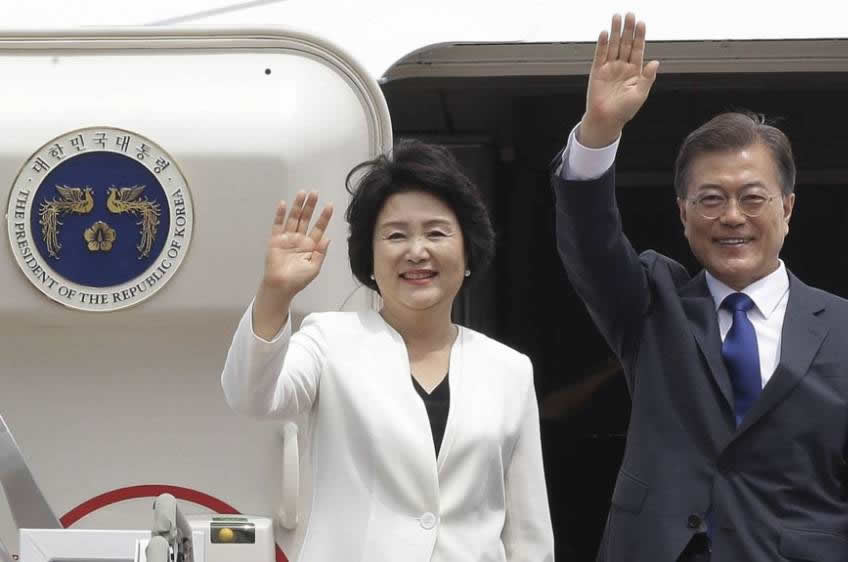 Kim Jung-sook, first lady of the Republic Korea